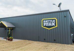 Battle Park signage displayed on battle park property