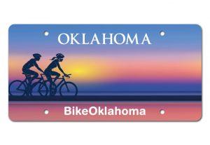 Bike Oklahoma License Plate mockup