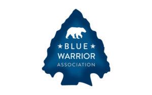 blue warrior association logo design