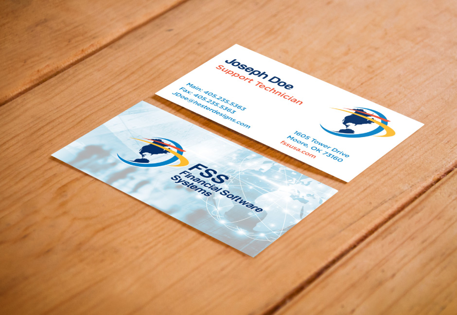 Financial Software Systems Business Cards designed by Hester Designs