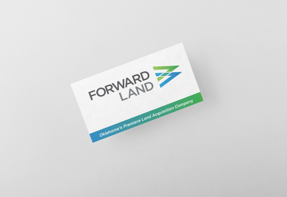 Forward Land Business card mockup