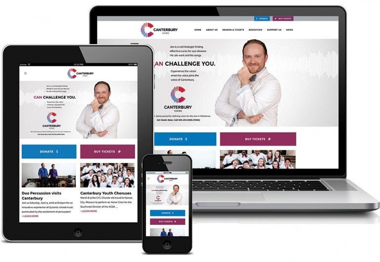 Canterbury Choral Society had Hester Design reimagine their branding.