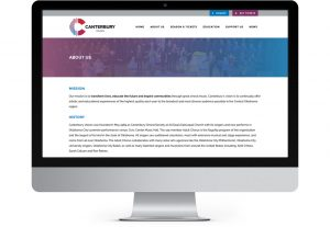 Canterbury Voices Website Interior Page design example