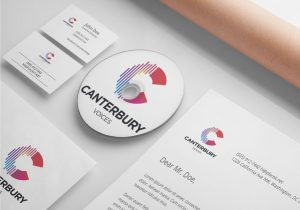Canterbury Choral Society Logo designed by Hester Designs
