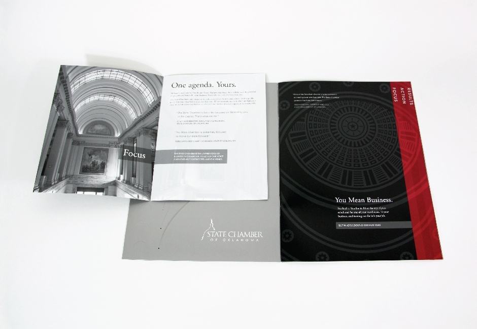State Chamber of Oklahoma Folder Design