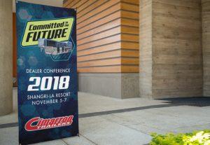 Cimarron Trailers dealer conference banner mockup