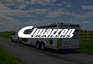 Cimarron Trailers Logo on Decorative Background