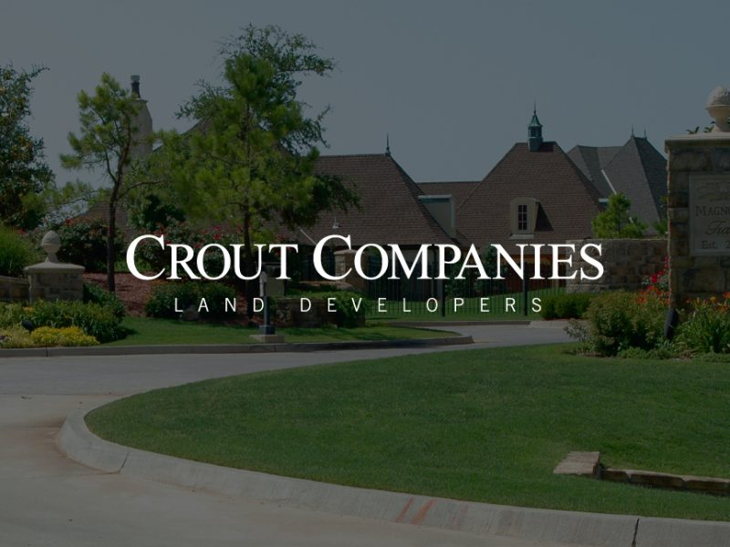 Crout Companies Logo on decorative background image