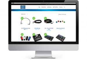 FAMC online store displayed on computer monitor