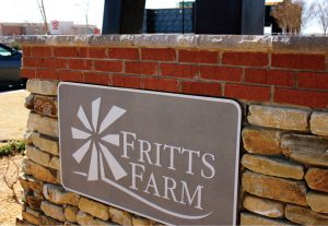 Fritts Farm Logo on metal sign