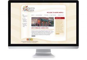 screenshot of fritts farm website