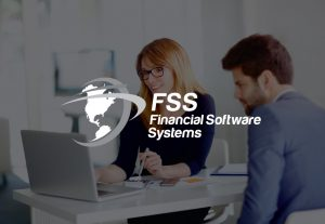 Financial Software Systems Logo on decorative background
