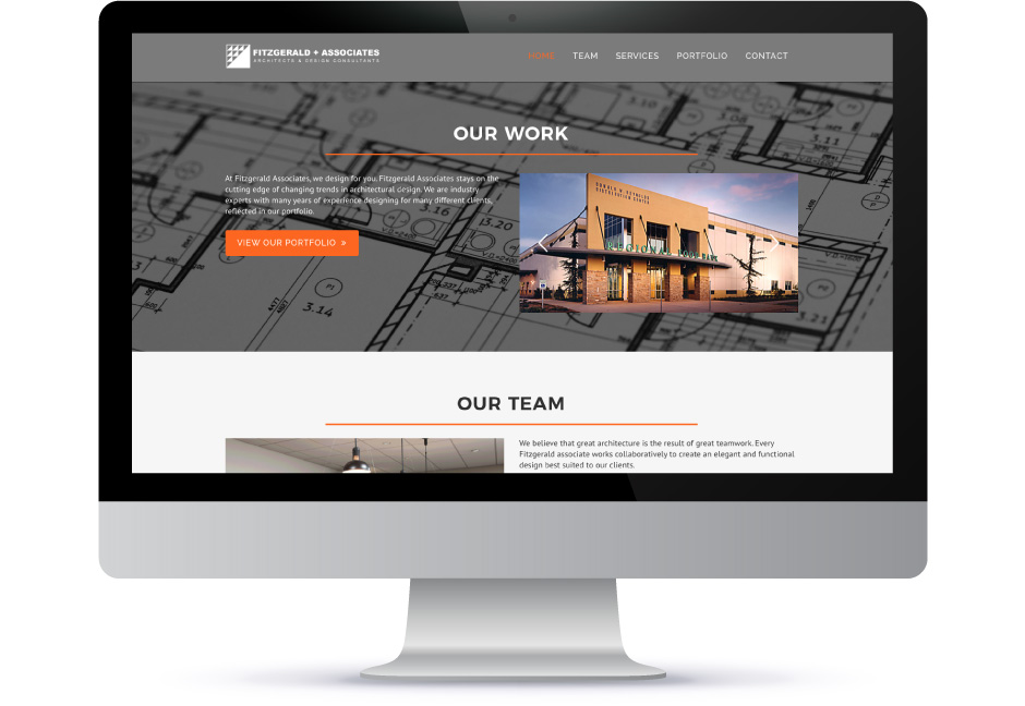 Fitzgerald and Associates website mockup