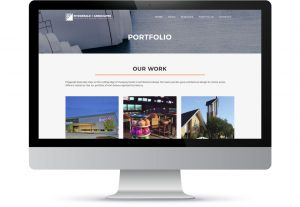 Fitzgerald and Associates Portfolio website page