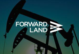 Forward Land Logo over decorative background