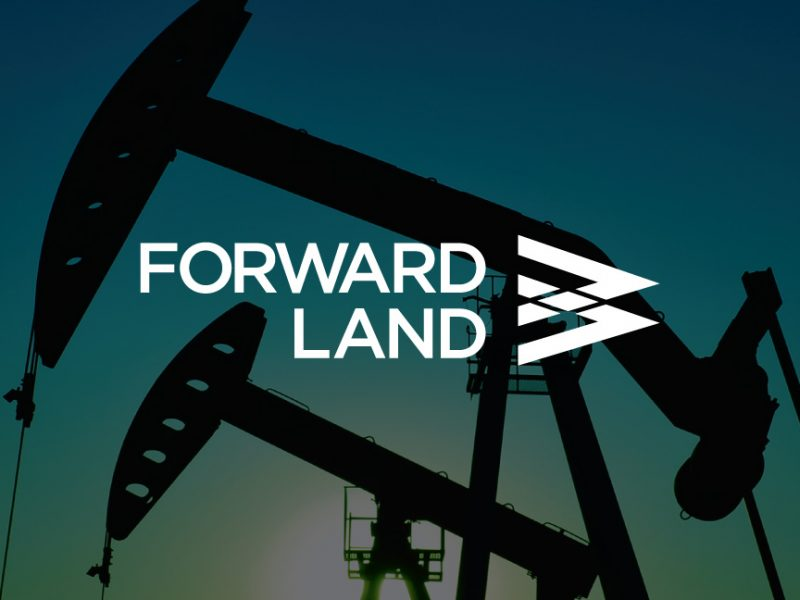 Forward Land Logo over decorative background