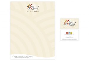 fritts farm stationery and business cards designed by Hester Designs of Oklahoma City