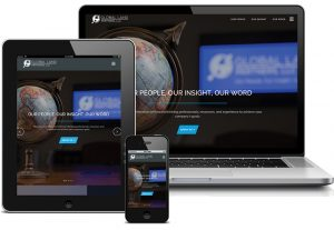 Global Land Partners website displayed on laptop, tablet, and smartphone