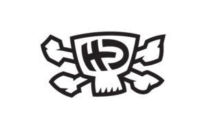 HD Hester Designs mad skull logo design