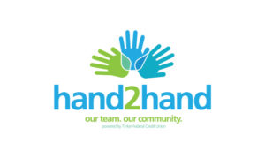 Hand2Hand logo design for Tinker Federal Credit Union