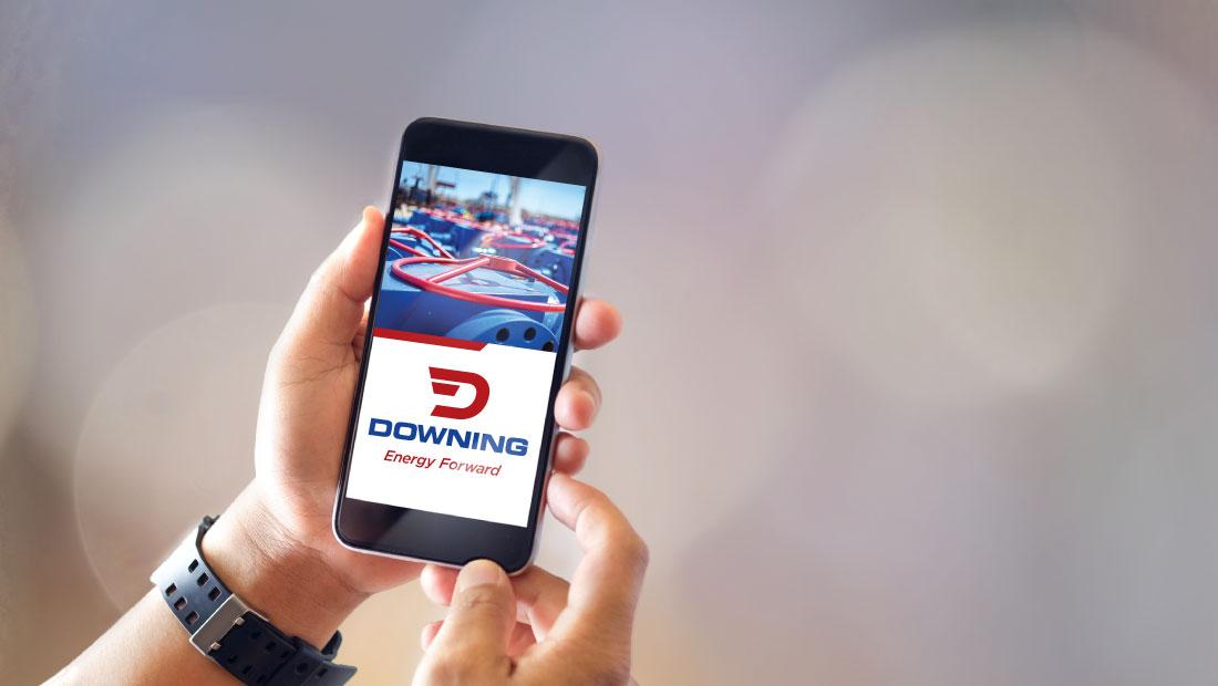 Downing USA logo displayed on smartphone screen