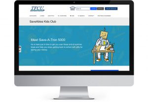 Tinker federal credit union savings page designed by Hester Designs