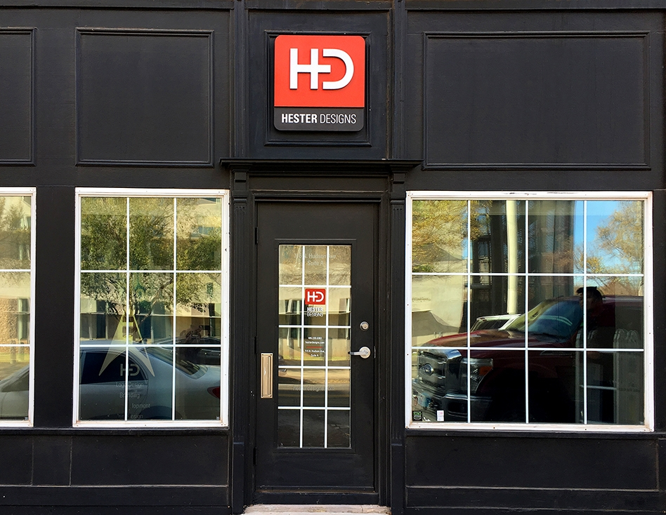 Hester Designs beautiful office front