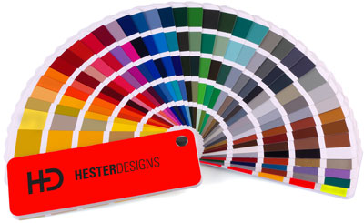 Hester Designs using Pantone colors to perfectly match your brand