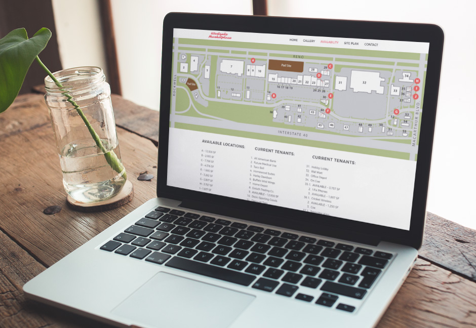 Westgate marketplace custom map displayed on laptop screen in use
