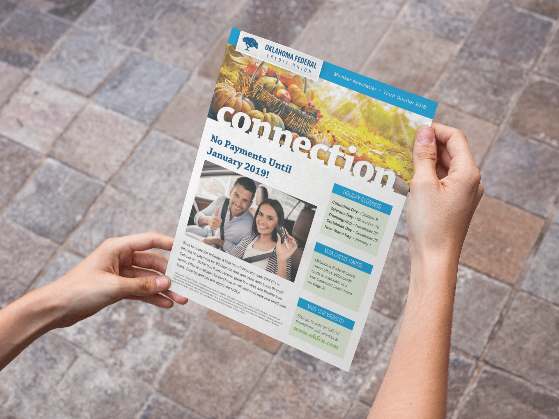 Oklahoma Federal Credit Union newsletter cover