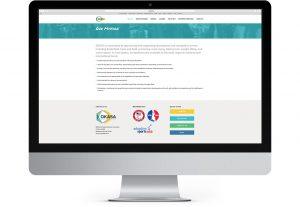 Okasa web site interior displayed on desktop computer monitor