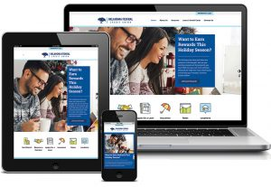 Oklahoma Federal Credit Union Website displayed across laptop, tablet, and smartphone screens