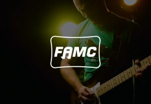 decorative background with FAMC logo foregound