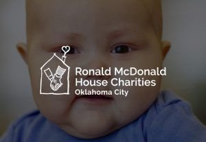 decorative background with ronald McDonald house charities oklahoma city chapter logo foreground