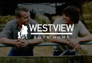 decorative background with westview boys home logo foregound