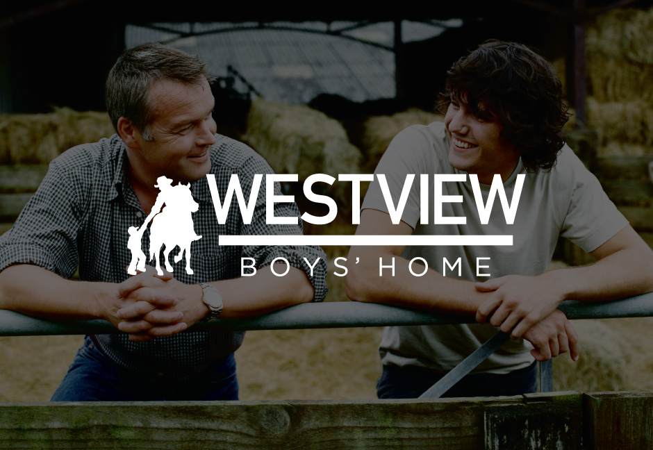 decorative background with westview boys home logo foregound