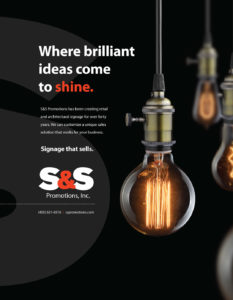 S&S advertisement design for the Addy Awards by Hester Designs