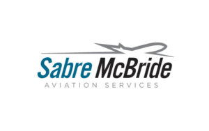 sabre mcbride aviation services logo design