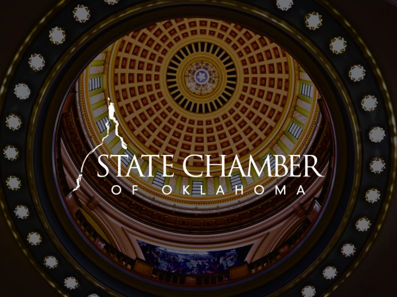 State Chamber of Oklahoma Logo on decorative background