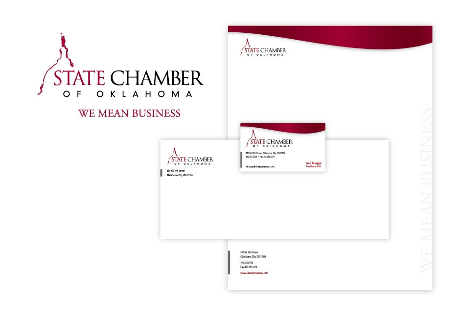 State Chamber of Oklahoma Stationery Design