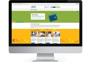 screenshot of tinker federal credit union buck the norm page designed by hester designs