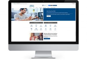 screenshot of tinker federal credit union home page designed by hester designs of oklahoma city