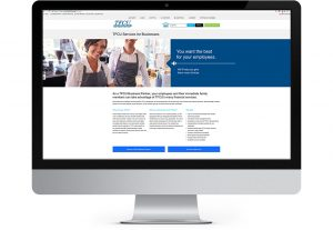 screenshot of tinker federal credit union business partners page designed by hester designs
