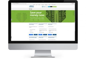 Tinker Federal Credit Union website displayed on iMac computer monitor