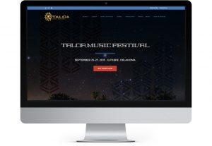 Taloa home page displayed on iMac computer monitor
