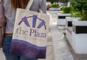 The Plaza at Stone Mill Tote Bag