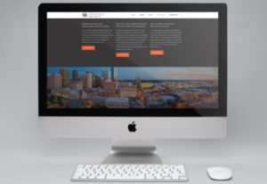 Oklahoma City Innovation District website by Hester Designs displayed on iMac computer monitor